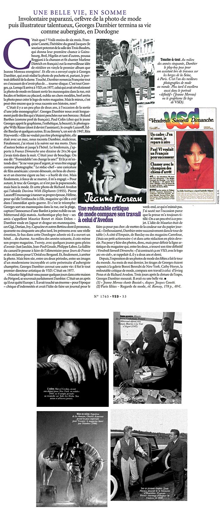 Georges Dambier - VSD, Une belle vie