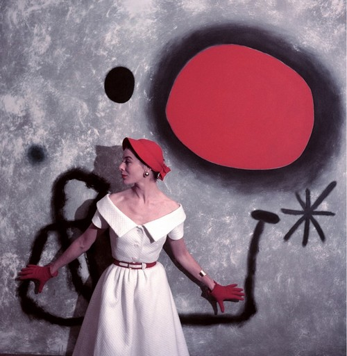 Bettina, Miro picture galerie Maeght Paris collection summer 1953