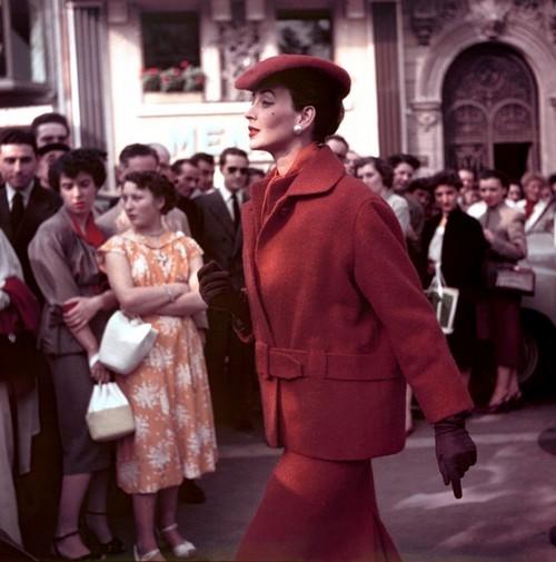 Dorian Leigh au Normandie 1954