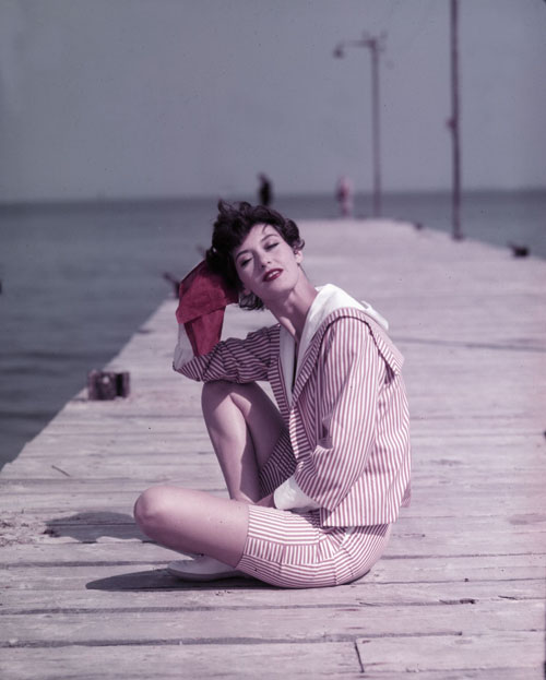 Barbara Mullen on the Boardwalk St. Tropez 1957