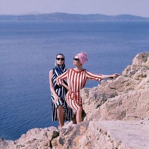 "Catherine and Anka for ""ELLE"" Saint Tropez 1961"