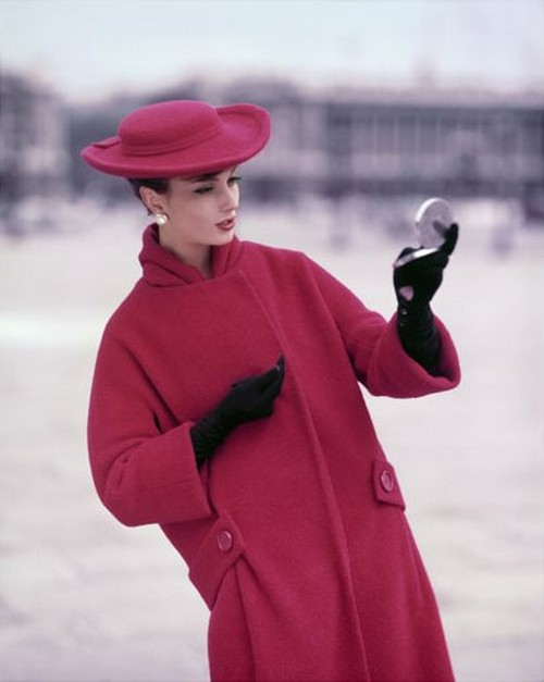 Girl in Red at Place de la Concorde