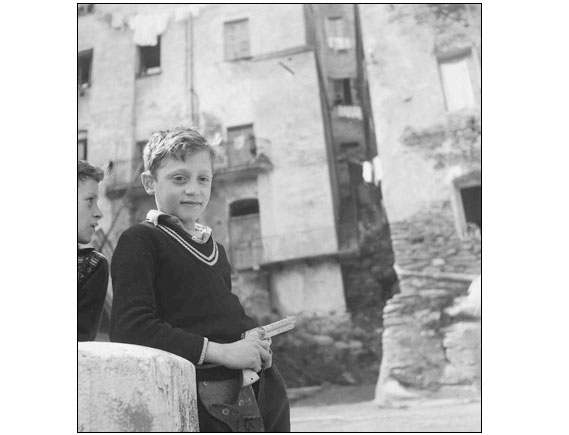 "The black eye for ""ELLE"" in Corsica, Bastia, in May 1954."