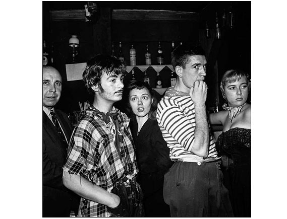 "Night Club - The photo was made in Paris at ""Le Vieux Colombier"" , Paris December 1949."