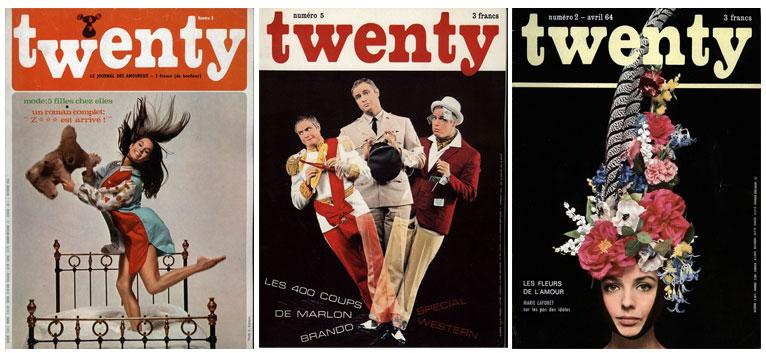 Twenty 60's French magazine